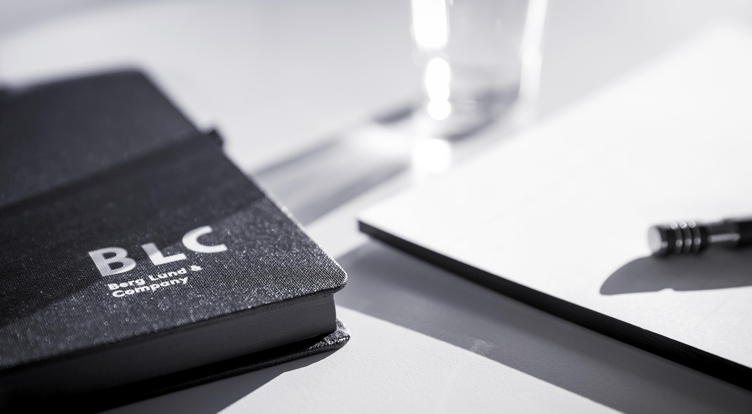 BLC Notizbuch, Block und Stift